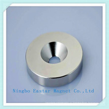N45 Никелирования неодимовый магнит-шайба с отверстием раковина