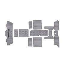 2021 custom  shape yacht grey  stripe anti dew  sheet boat  flooring carpet eva flooring boats
