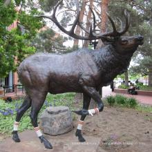 extérieur jardin décoration métal artisanat cerf bronze métal deer sculptures