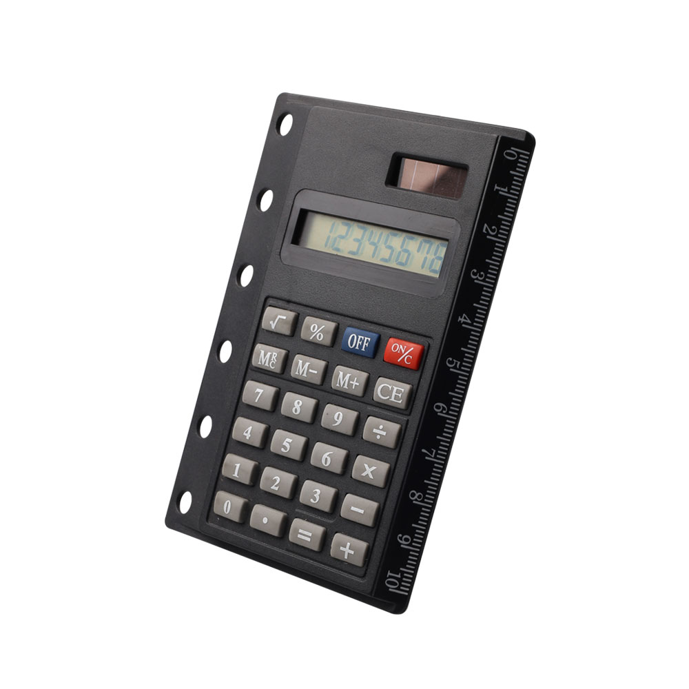 8 Digital Pocket Notebook Card Calculator with Ruler