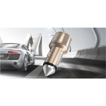 ORICO UCI-2U compact design 2 port usb car charger with safety hammer best usb car charger adapter