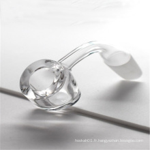 Banger de quartz de qualité supérieure pour le tabac avec une épaisseur de 6 mm (ES-QZ-024)