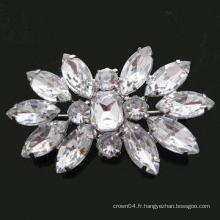 Broche nuptiale en cristal de strass pour les cartes d'invitation de mariage