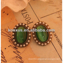 2014 fashion emerald earring