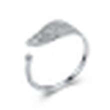 Anillo de plata dulce de las hojas de arce de la plata esterlina 925 anillo pequeño arte fresco viento