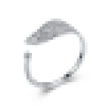 Женская сладкий 925 чистое серебро Клен листья кольцо небольшой свежий искусство ветра