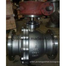 Válvula de bola montada no tronco da extremidade da flange API com aço inoxidável
