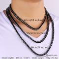 Parures de bijoux en acier inoxydable pour hommes bijoux mode haute qualité frigo noir lien chaîne collier Set Bracelet hommes