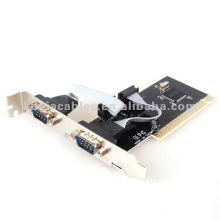 PCI TO RS-232 Card PCI to 2 Dual COM RS232 Serial I/O Port Card Adapter