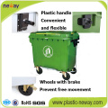 Outdoor Usage and Eco-Friendly Feature Plastic Dustbin 1100L