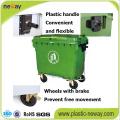 Uso ao ar livre e eco-friendly característica lixo de plástico 1100L
