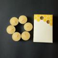 Pure Natural Organic Handmade Beeswax Tea Light Candles