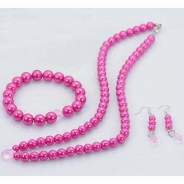 Imitation Pink Pearl Jewellery Sets Online