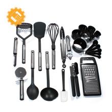 Grupos de utensílios de nylon da cozinha das vendas 6pcs quentes com o punho do Não-deslizamento