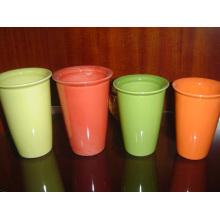 Keramik Eco Becher ohne Griff Glasierte Tasse