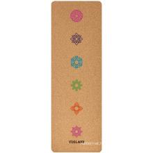 Yugland factory wholesale cork yoga block custom logo print rubber cork eco-friendly yoga mat