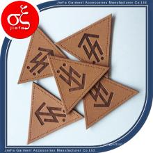 Parche y etiqueta de cuero repujado personalizados