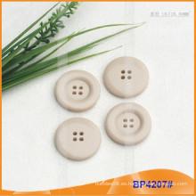 Botón de poliéster / botón de plástico / botón de camisa de resina para el escudo BP4207
