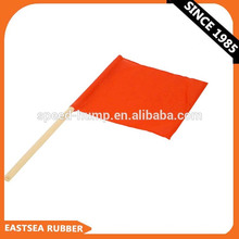 Drapeau orange de trafic extérieur en tissu éclairé