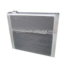 Intercambiador de calor tipo aleta de aluminio para maquinaria de construcción