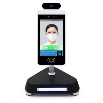 3D Stand Access Control System Terminal Device Body Kiosk Measurement Temperature Facial Camera Face Recognition