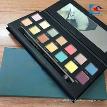 Recyclable custom black color eyeshadow make up box with mirror