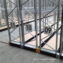 Электроприводные мобильные стеллажи для поддонов