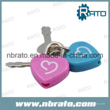 Plastic Heart Shape Diary Lock with Key