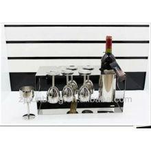 Estante europeo y antiguo del vino del acero inoxidable, estante de alto grado del vino