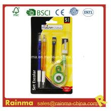 Набор канцелярских принадлежностей с шариковой ручкой и коррекционной лентой