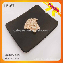 LB67 Custom garment metal leather label for jeans, real leather and fake leather label with logo