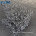 5x10cm Aperture Zinc Coated Iron Wire Mesh Welded Gabion Cage  for Garden Design
