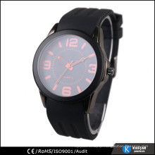 Japan movt battery silicone sport watch men, quartz watch price