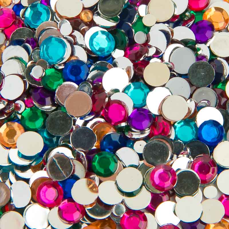 Colored Flat Back Acrylic Rhinestone For Sale