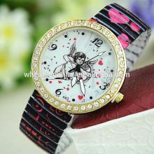 Reloj de moda de aleación de diseño de moda y ángel de diseño de alta calidad