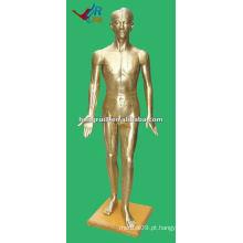 178cm Antiguo humano médico chinês acupuntura modelo bronze
