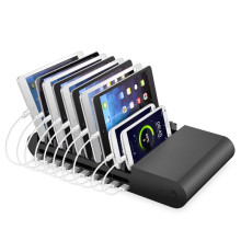 10 Ports Ladestation 8 * 2.1A 2 * 1A USB Ladegerät mit Stand und Swith Docking Station