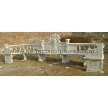 Антикварные садовые стулья с каменным мраморным гранитным песчаником (QTC055)