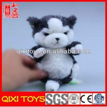 Emulational high quality plush cat keychain