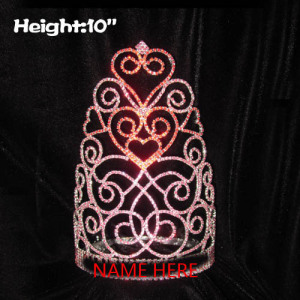 Wholesale Valentines Pageant Crowns With Red Heart Shaped