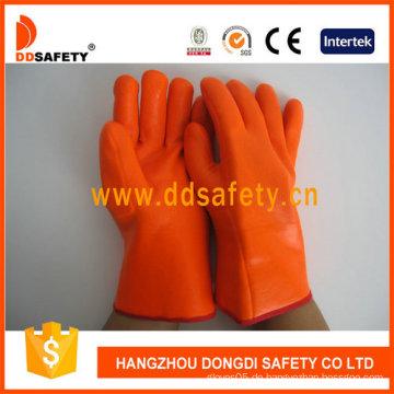 Orange PVC-Schaum-Handschuh Chemikalienbeständiger Sicherheitshandschuh -Dpv313