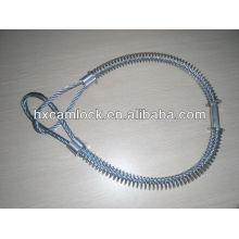 Cable de seguridad Whipcheck grande de acero al carbono