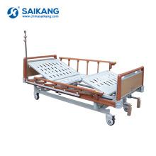 Camas pacientes manuais baratas do hospital SK041-1 com a altura ajustável para a venda