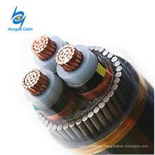 120 sq. M. 4 Cable de alimentación de la base 11KV XLPE 3 Base de alambre de acero Acorazado Cable de cobre