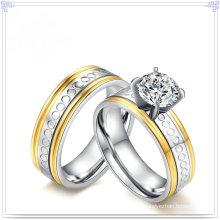 Accesorios de moda Joyas de cristal Anillo de acero inoxidable (SR810)