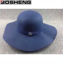 Chapeau en dôme à rayures larges en feutre Vintage Feat Fedora