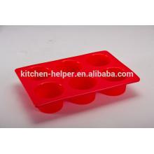 Пользовательский дизайн FDA LFGB Стандартный круглый жаропрочных нетоксичных антипригарным кухни кекс выпечки продовольственной категории силиконовые кастрюлю сдобы