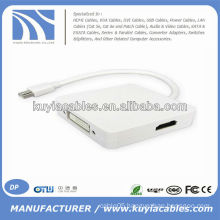 3 in 1 Mini DP to HDMI/DVI/DP adapter For Mac book