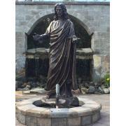 Brons liv storlek Jesus staty till salu