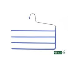 4 Tier alta calidad PVC Metal pantalones percha